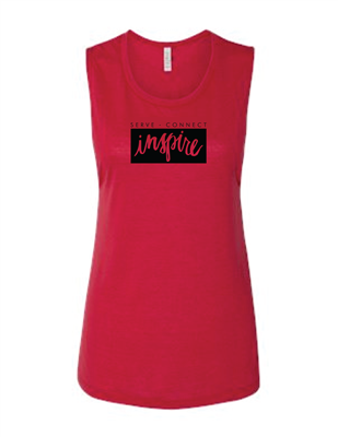 2XL - Inspire Muscle Red Tank